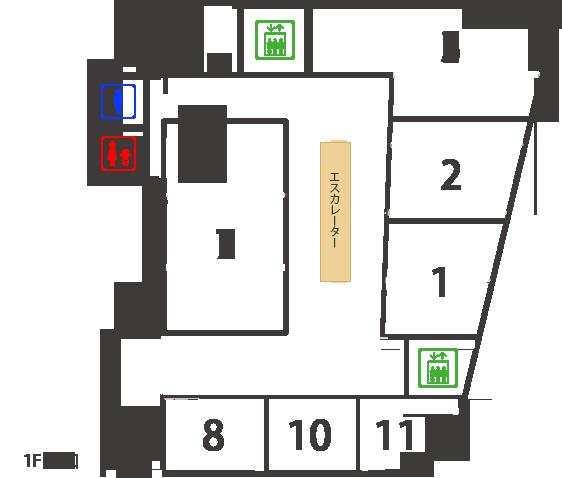 B1Fフロアマップ